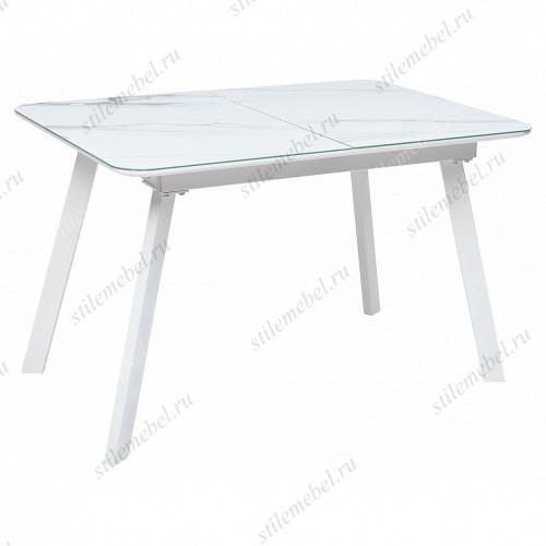 Стол ARUBA GREY-WHITE/ WHITE глазурованное стекло
