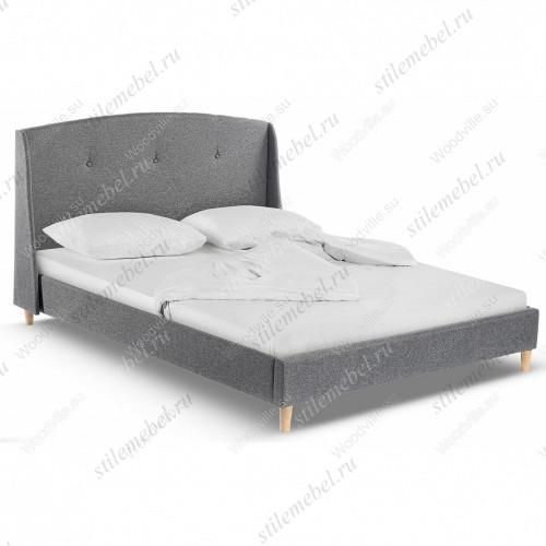 Кровать двуспальная Morena 160х200 grey