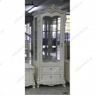 Витрина Глория MK-2719-WG 1-дверная правая 88х46х227 см Молочный1