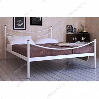 """Кровать двуспальная """"Luna"""" (140х200/металлическое основание) Белый"""