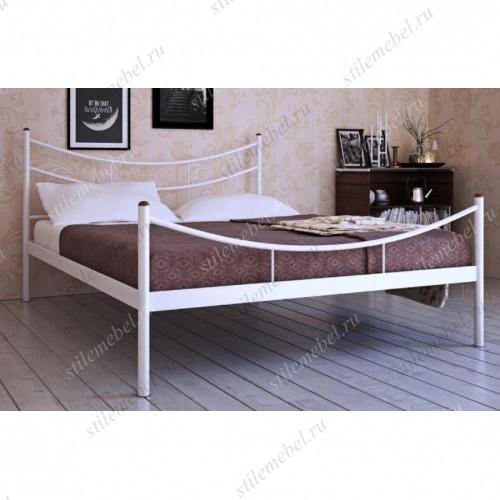 """Кровать двуспальная """"Luna"""" (160х200/металлическое основание) Белый"""