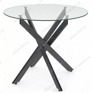 Стол Dikline R900 черный/прозрачное стекло