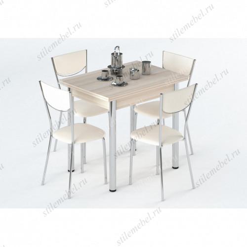 Обеденная группа Лиль 1Р (стол + 4 стула Leset 1308) дуб белёный