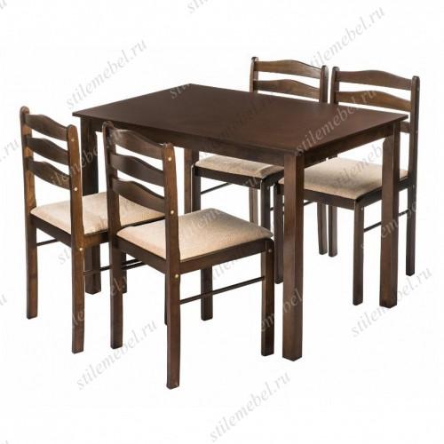 Обеденная группа Starter (стол и 4 стула) oak/beige