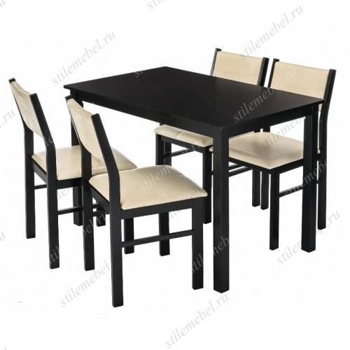 Обеденная группа Bahamas (стол и 4 стула) cappuccino/cream