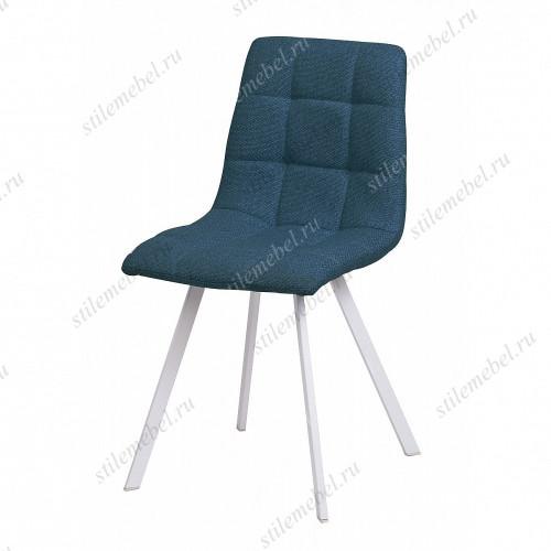 Стул CHILLI SQUARE TRF-06 полночный синий, ткань/ белый каркас
