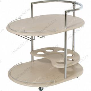 Стол сервировочный Официант дуб беленый
