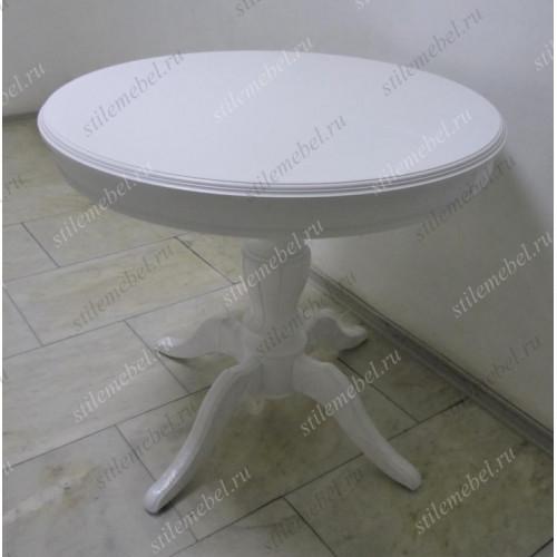 Стол Альт-1 ЛАЙТ 850(1150), цвет белая эмаль