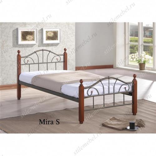 Кровать МИРА (Mira S-90х200) Темный орех