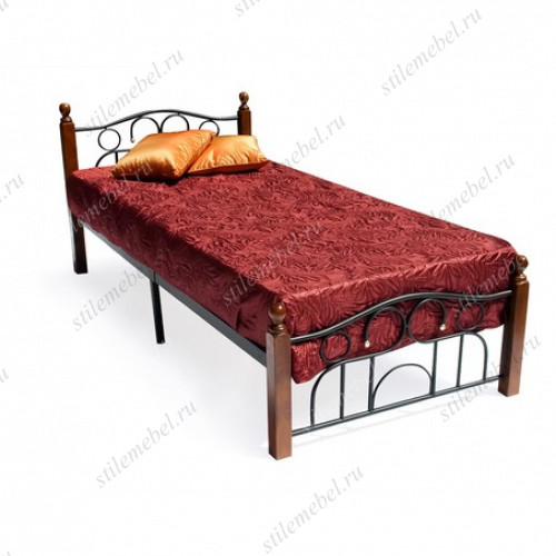 Кровать AT-808 (метал. каркас) + металл. основание (90x200)