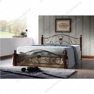 Кровать ВИВЬЕН (Vivien-140х200) Темный орех