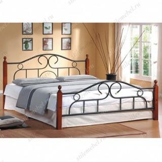 Кровать AT-808 (метал. каркас) + металл. основание (140x200)