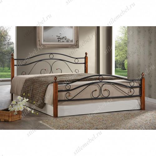 Кровать AT-803 (метал. каркас) + металл. основание (160x200)