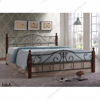 Двуспальная кровать Адель (Adel 160х200) Темный орех