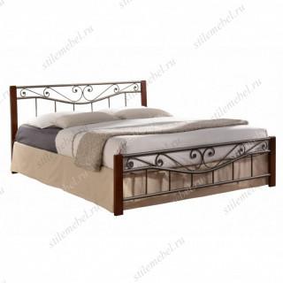 Двуспальная кровать Регина (Regina-160х200) Темный орех