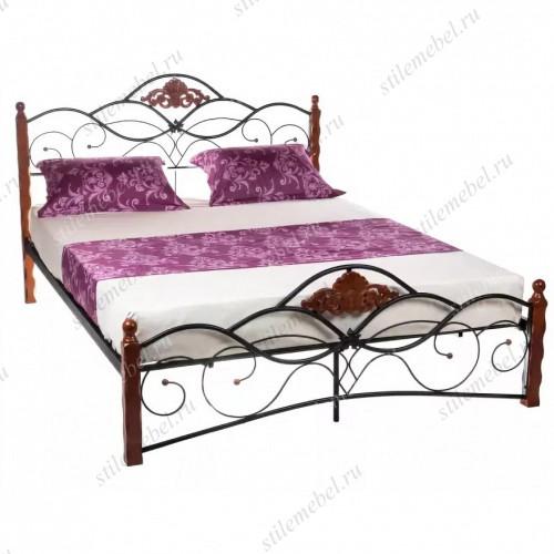 Кровать FD 881 (решетка металлическая) 160*203. Цвет: Rose Oak