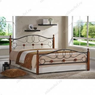 Кровать мод. 822 (Hava-180х200) Темный орех