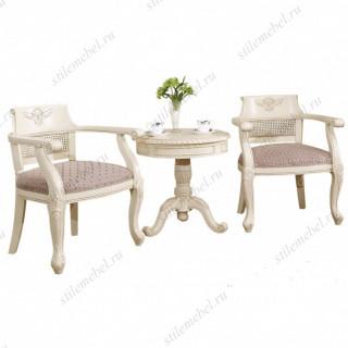 Комплект (Столик чайный 8801-В+ 2 стула с подлокотниками 8801)