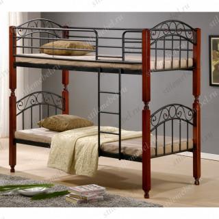 Кровать двухъярусная АТ-9126 (90x200 cm)