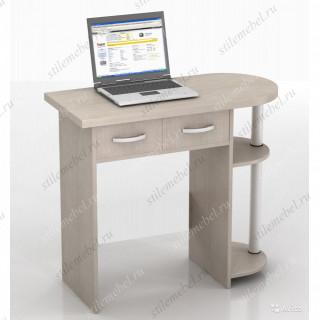 Компьютерный стол ИВОЛГА КС-10С Дуб Беленый