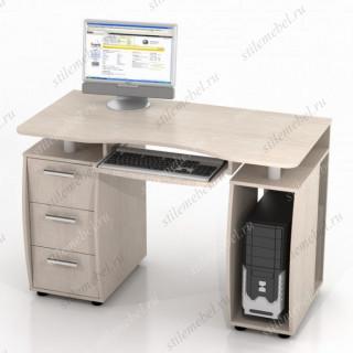 Компьютерный стол ДРОФА КС-12М Дуб беленый