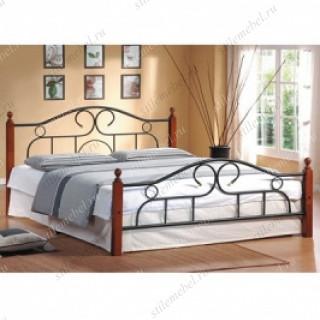 Кровать AT-808 (метал. каркас) + металл. основание (160x200)