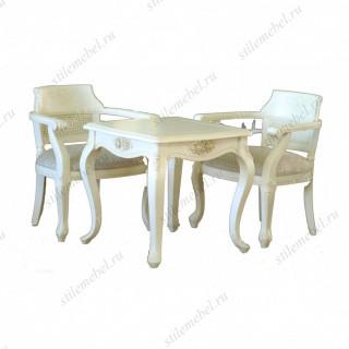 Комплект 8801 Столик чайный Милано квадратный + 2 кресла