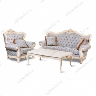 Комплект (Диван 8802-А 3-мест,2 кресла мягких 8802-А, журн. столик 8801) ТКАНЬ УЗОР