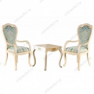 Комплект Милано 8801 (Столик чайный Милано квадратный + 2 кресла УЗОР 528)
