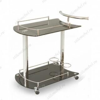 Столик сервировочный на колесиках SC 5066-BG Черный