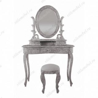 Туалетный столик с банкеткой QUEEN ANNE, ANTIQUE GREY MK-2506-AG.