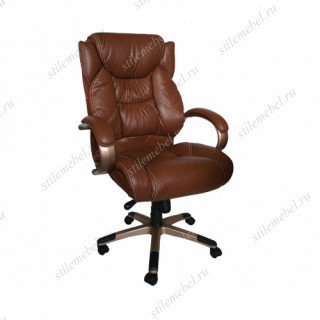 Кресло 9587 L кожа коричневая