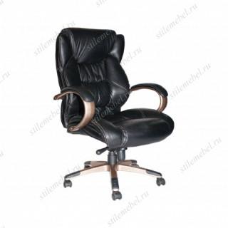 Кресло 9587 L кожа черная