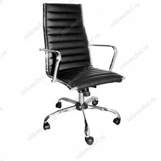 Кресло 9018 L-1 Н кож/зам черный