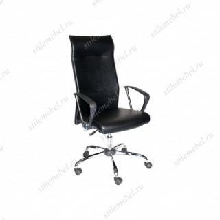 Кресло 9371 L-2 кож/зам черное