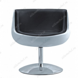 Барное кресло A340-1 (white shell/black seat PU) Cognaс chair