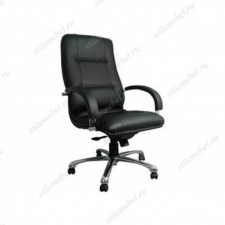Кресло Филадельфия хром (кожа чёрная, бежевая, коричневая)