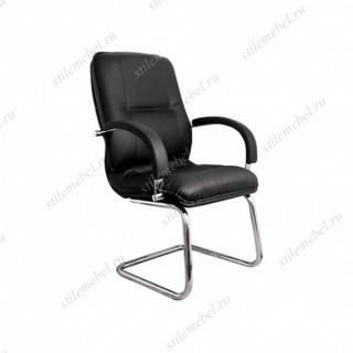 Кресло Филадельфия хром конференц короткий(кожа чёрная, бежевая, коричневая)