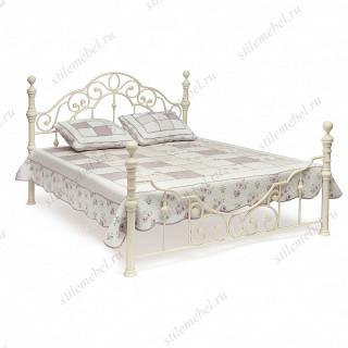 Кровать двуспальная «Виктория» (Victoria White) + основание 160