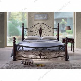 Двуспальная кровать мод. Dynasty-160х200 Темный орех