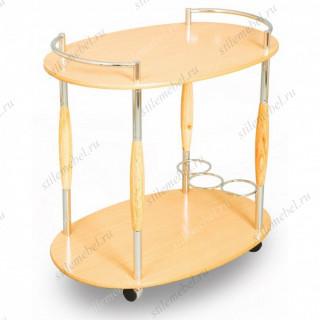 Столик сервировочный на колесиках SC 5037-Oak