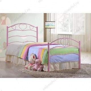 Кровать односпальная «Рокси» (Roxie) розовый