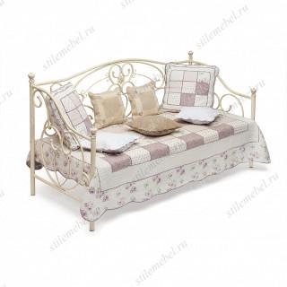 Кровать-кушетка «Джейн» (Jane) + основание (Античный белый (90 x 200 см))