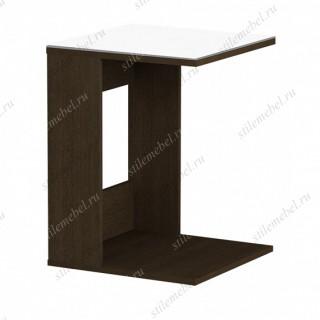 Стол журнальный 731 LS (венге/белое стекло)