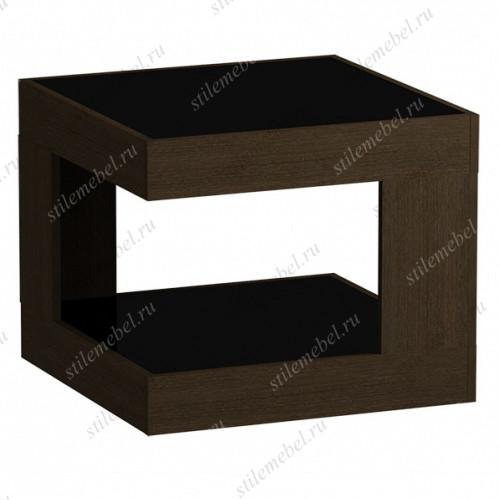 Стол журнальный 746 LS (венге/черное стекло)