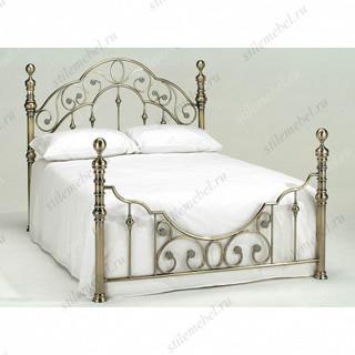 Кровать двуспальная «Виктория» (Victoria Antique Brass ) + основание 160
