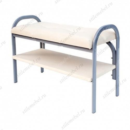 Скамейка с полкой для обуви Практик-7 (Пр-7/Белый)
