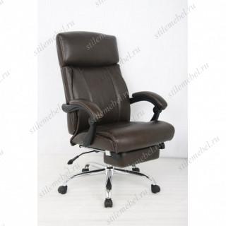 Кресло 0850 L-1 кожа тем.коричневое