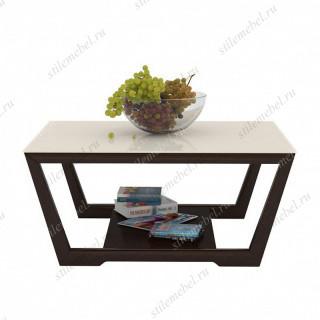 Стол журнальный ALICE 1 венге/стекло крем