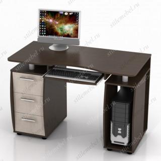 Компьютерный стол ДРОФА КС-12М Дуб беленый/Венге
